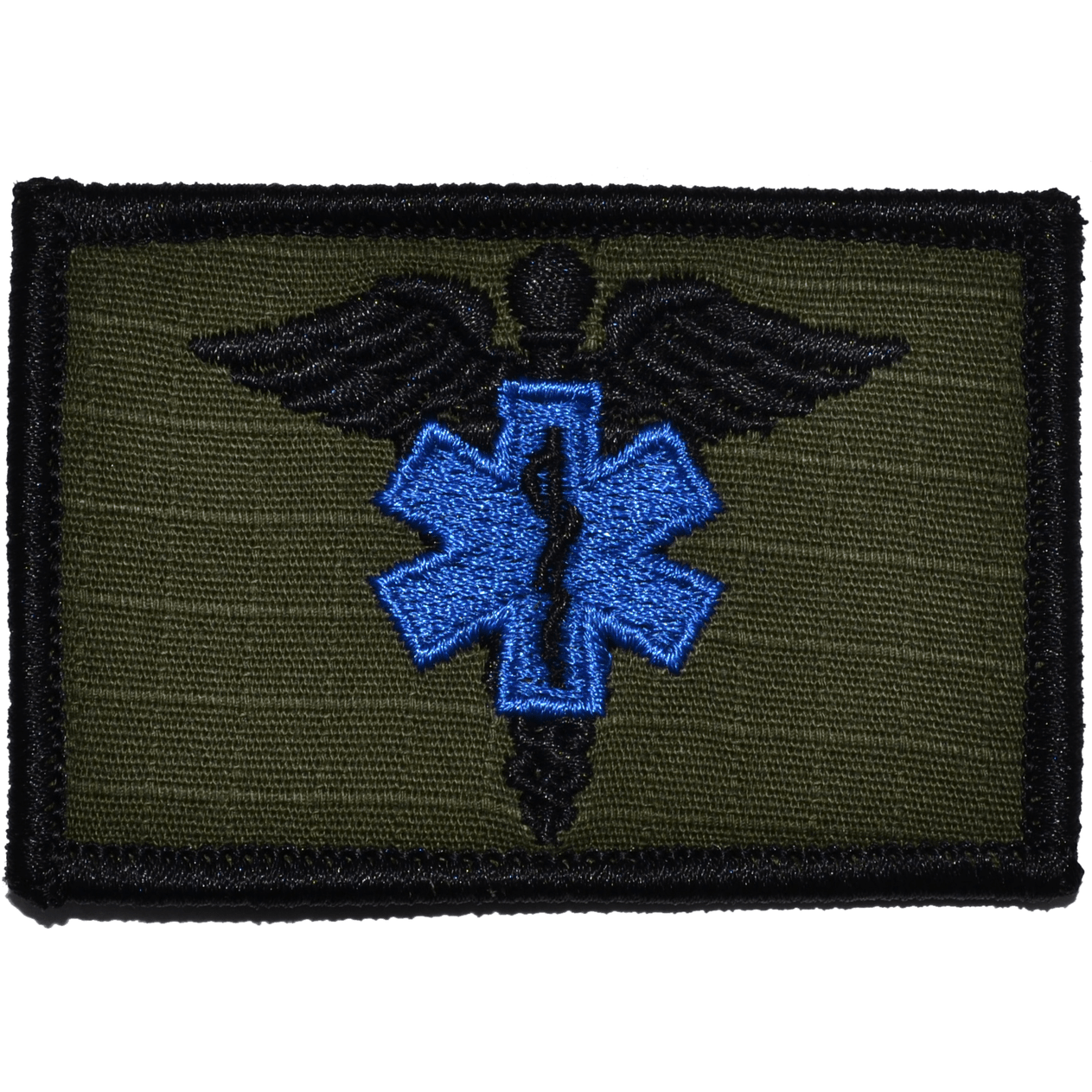 Tactical Gear Junkie Patches Olive Drab Caduceus Star of Life EMT - 2x3 Patch
