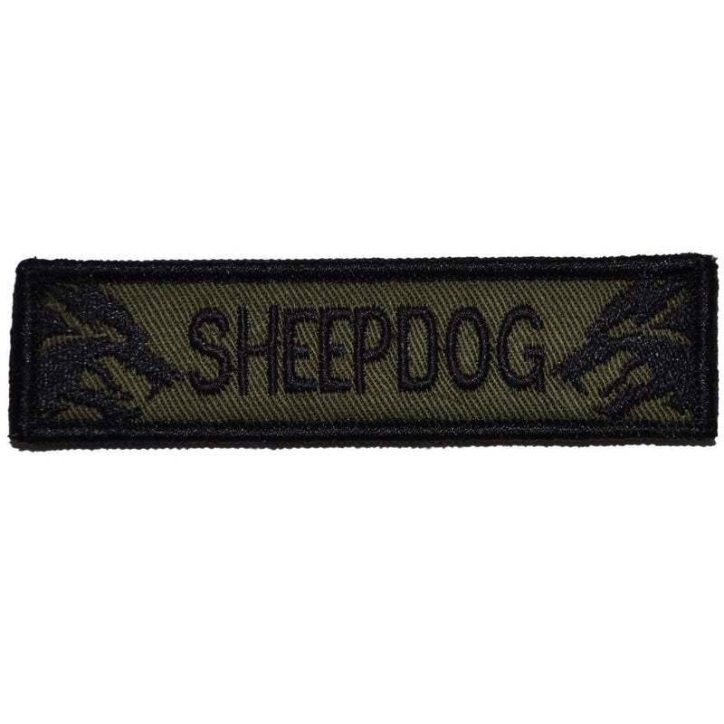 Tactical Gear Junkie Patches Olive Drab Sheepdog - 1x3.75 Patch