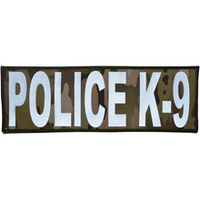 Reflective Police K-9 Patch - 4inch x 12inch
