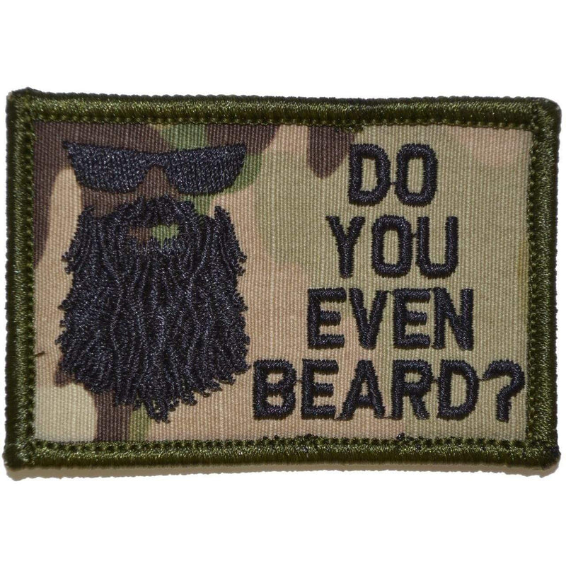 Tactical Gear Junkie Patches MultiCam Do You Even Beard? - 2x3 Patch