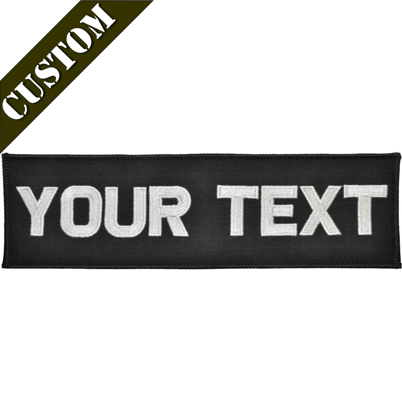 Tactical Gear Junkie Patches Custom Plate Carrier Text Patch - 3x10