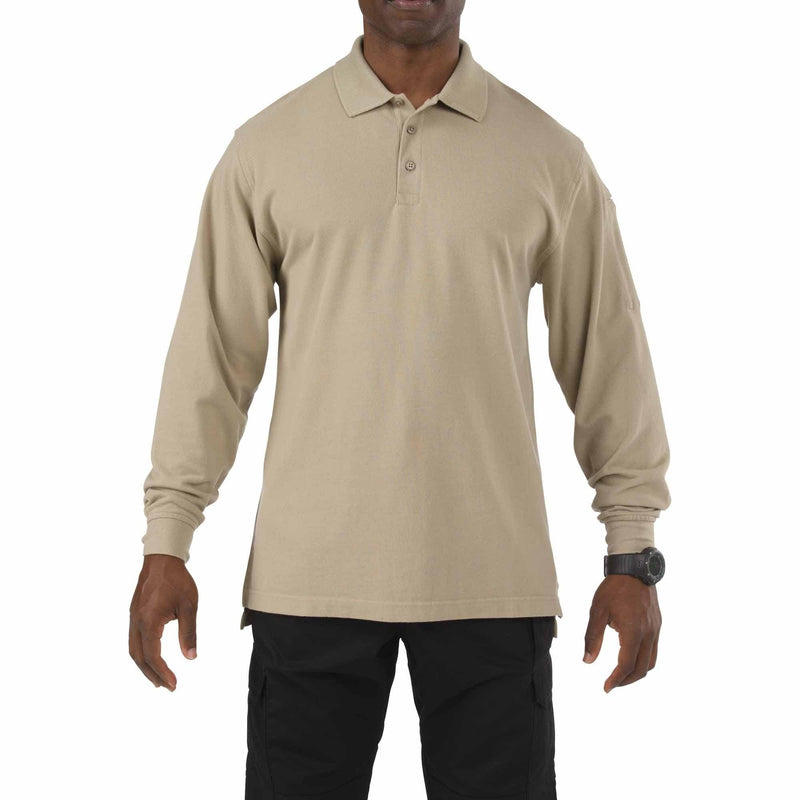 5.11 Tactical Apparel Silver Tan / Regular Large 5.11 Tactical Professional Polo - Long Sleeve