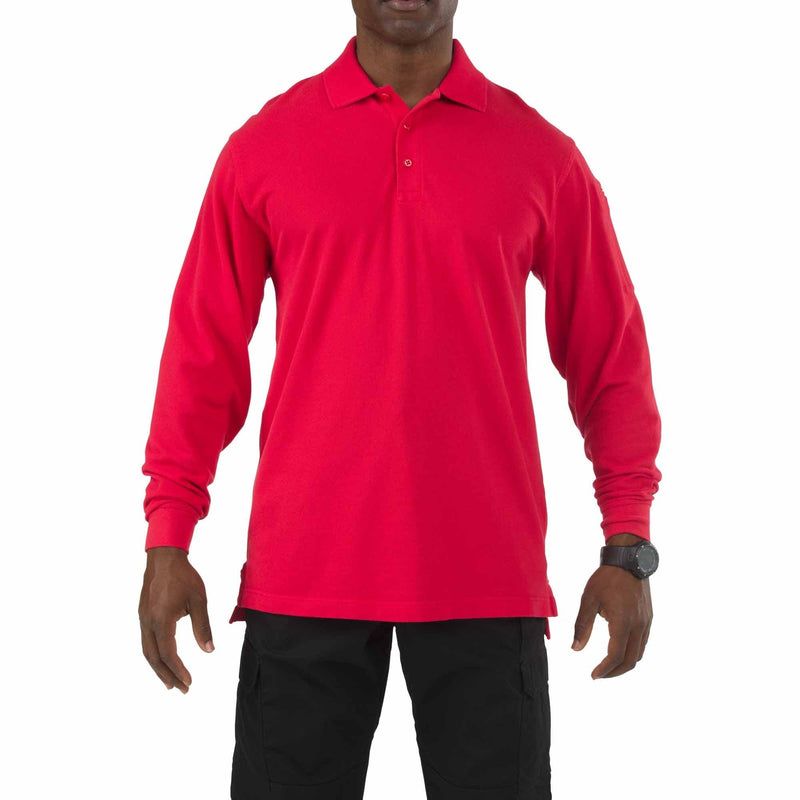5.11 Tactical Apparel Range Red / Regular Small 5.11 Tactical Professional Polo - Long Sleeve