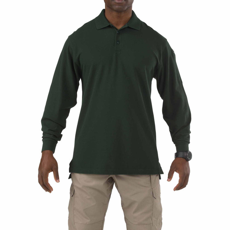 5.11 Tactical Apparel LE Green / Regular 2X-Large 5.11 Tactical Professional Polo - Long Sleeve