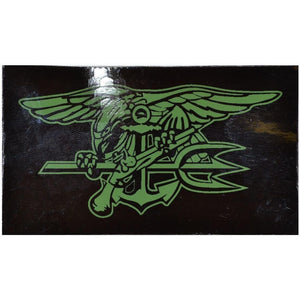"IR (Infrared) 2""x3.5"" Patch, Navy Seal Trident (Green Graphic)"