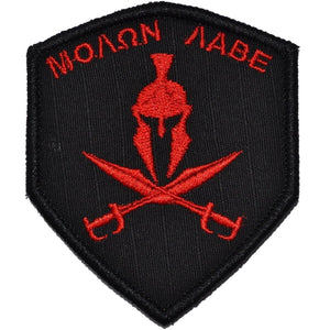 Spartan Head Molon Labe - 2x3.5 Shield Patch