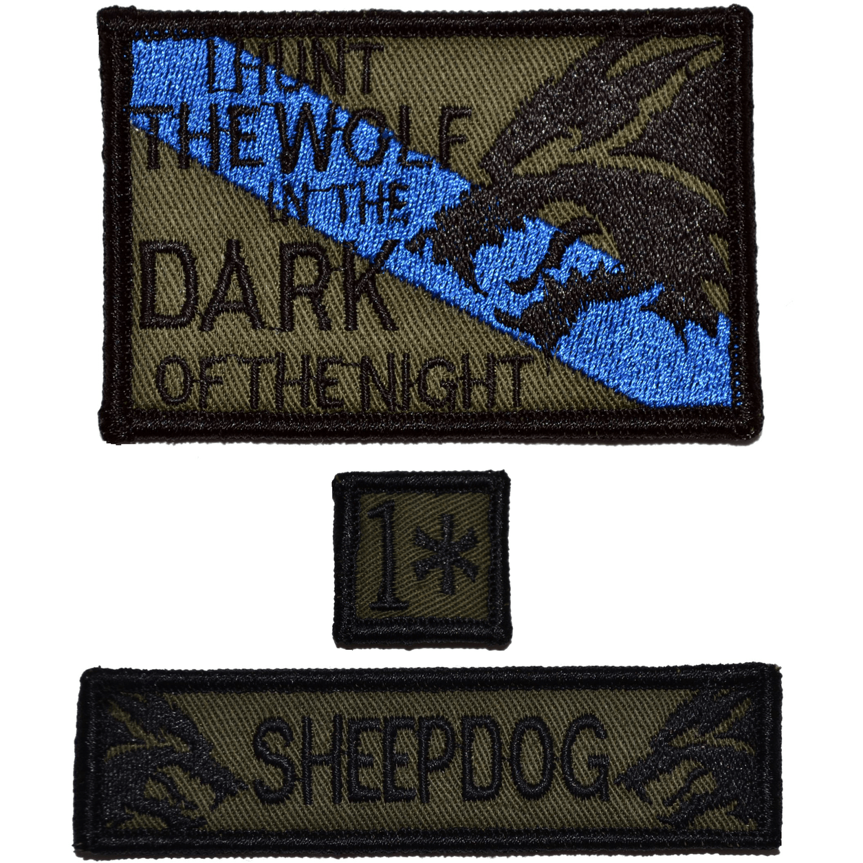 Patch Set:  Sheepdog Hunt The Wolf 2x3, Sheepdog 1x3.75, 1* One Ass to Risk 1x1