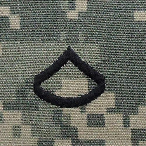 Tactical Gear Junkie Rank PFC Army Rank - SEW ON - ACU