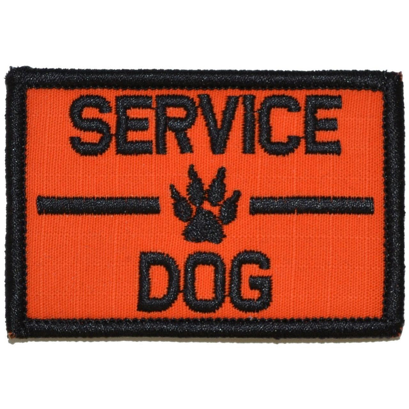 Tactical Gear Junkie Patches Orange Service Dog, K9 Dog Patch - 2x3 Patch