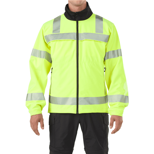 5.11 Tactical Apparel High-Vis Yellow / 2X-Large 5.11 Tactical Reversible Hi-vis Softshell Jacket