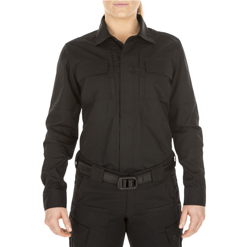5.11 Tactical Apparel Black / Small 5.11 Tactical Womens Long Sleeve Taclite TDU Shirt