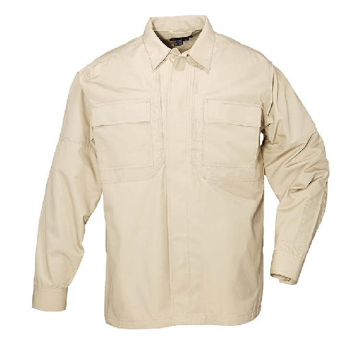 5.11 Tactical Apparel TDU Khaki / 2X-Large 5.11 Tactical Ripstop TDU Shirt Long Sleeve