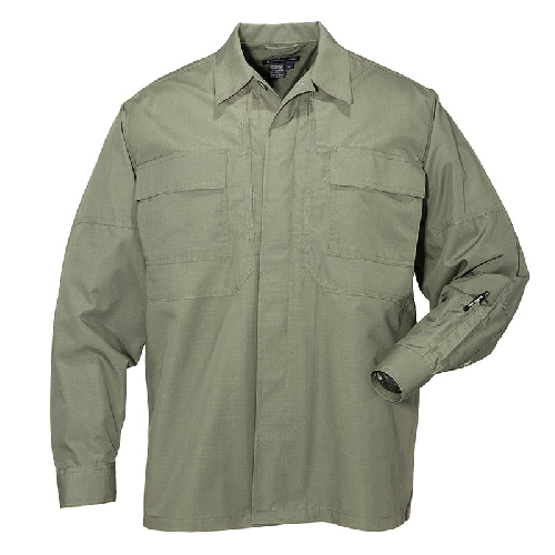 5.11 Tactical Apparel TDU Green / 2X-Large 5.11 Tactical Ripstop TDU Shirt Long Sleeve