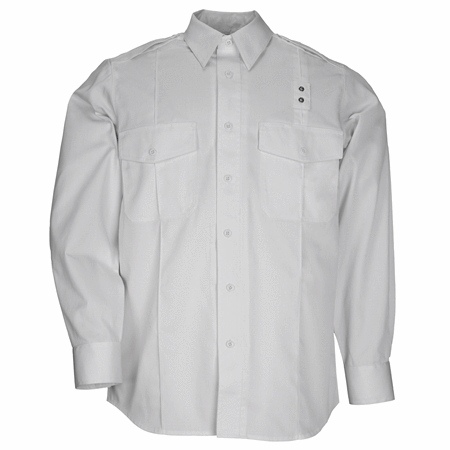 5.11 Tactical Apparel White / Tall 2X-Large 5.11 Tactical MenS Pdu Long Sleeve Twill Class A Shirt