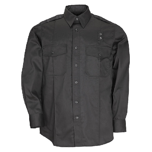 5.11 Tactical Apparel Black / Regular 2X-Large 5.11 Tactical MenS Pdu Long Sleeve Twill Class A Shirt