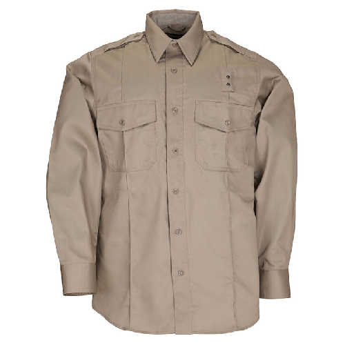 5.11 Tactical Apparel Silver Tan / Regular 2X-Large 5.11 Tactical MenS Pdu Long Sleeve Twill Class A Shirt