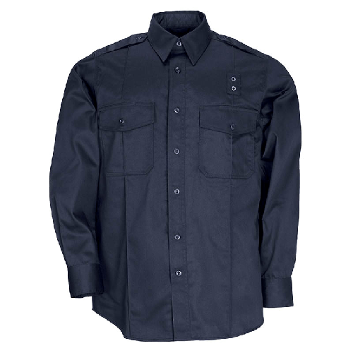 5.11 Tactical Apparel Midnight Navy / Tall 3X-Large 5.11 Tactical MenS Pdu Long Sleeve Twill Class A Shirt