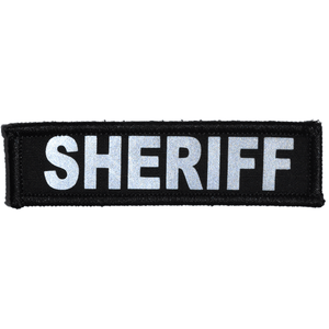 Sheriff Reflective - 1x3.75 Patch