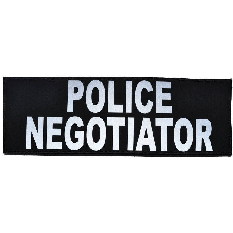 Tactical Gear Junkie Patches Police Negotiator Reflective - 4x12 Patch