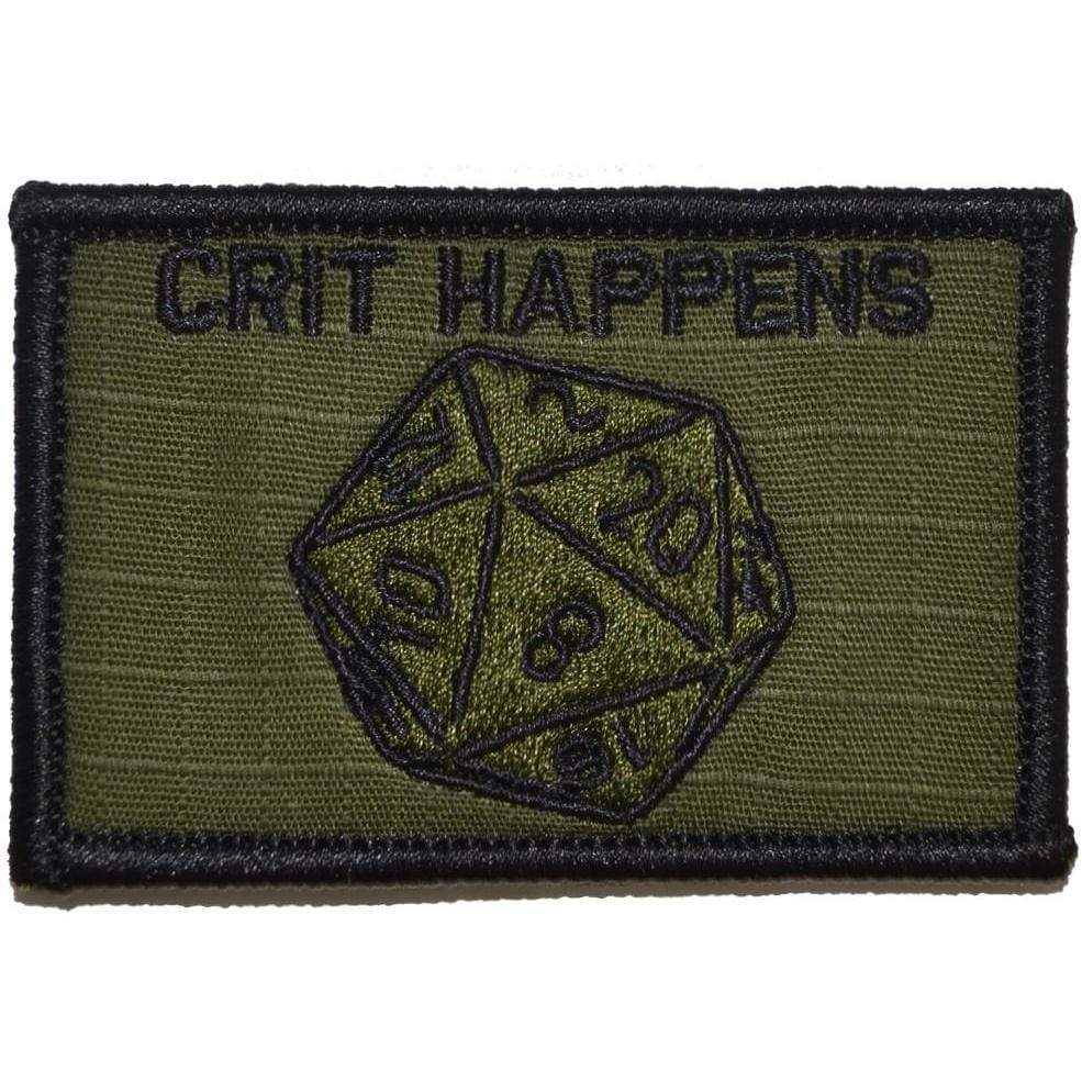 Crit Happens 20-sided die - 2x3 Patch