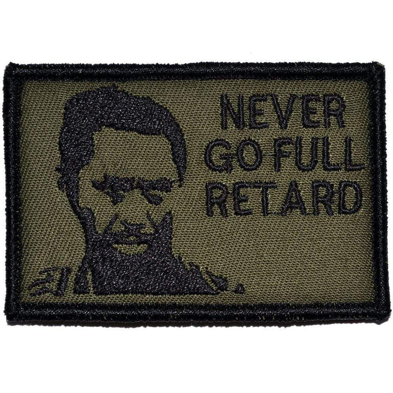 Tactical Gear Junkie Patches Olive Drab Never Go Full Retard Kirk Lazarus - 2x3 Patch