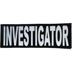 Reflective Investigator Patch - 4inch x 12inch