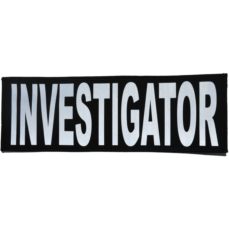 Tactical Gear Junkie Patches Black Investigator Reflective - 4x12 Patch