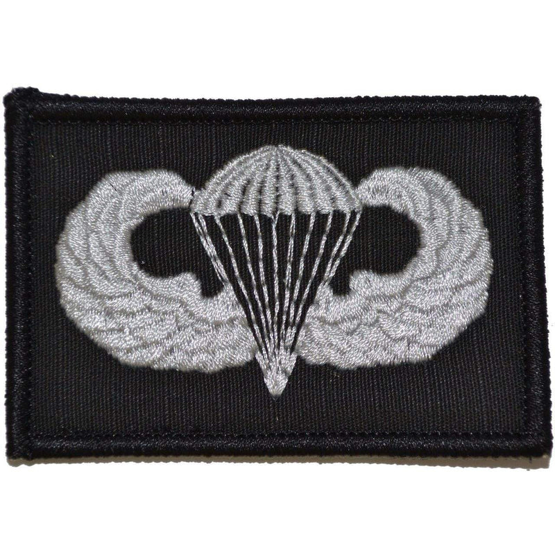 Tactical Gear Junkie Patches Black Parachute Jump Wings - 2x3 Patch