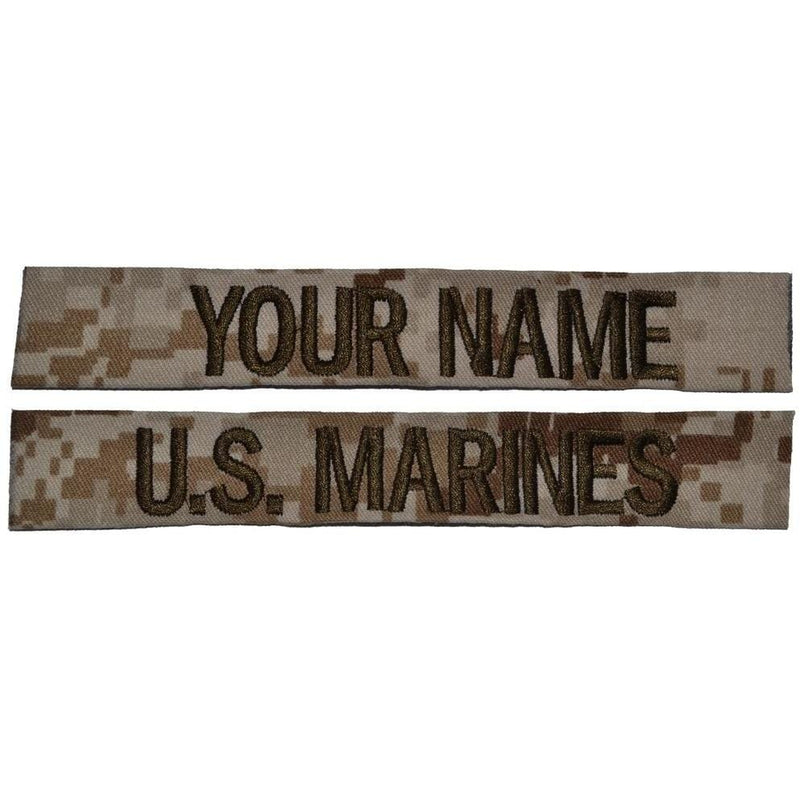 Tactical Gear Junkie Name Tapes 2 Piece Custom Name Tape Set - SEW ON - Desert Marpat