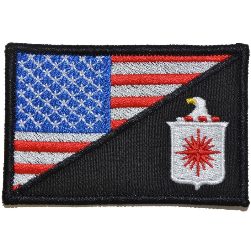 Tactical Gear Junkie Patches Full Color CIA Central Intelligence Agency USA Flag - 2.25x3.5 Patch