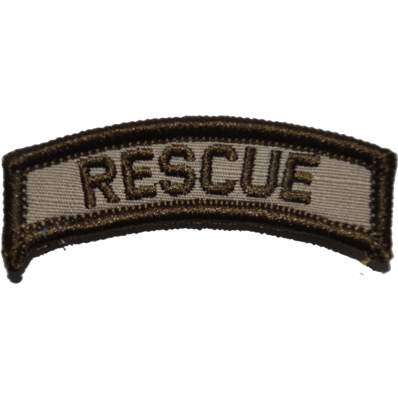 Tactical Gear Junkie Patches Desert Sand Rescue Tab Patch