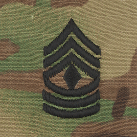 Tactical Gear Junkie Rank 1SG Army Rank - SEW ON - OCP/Scorpion