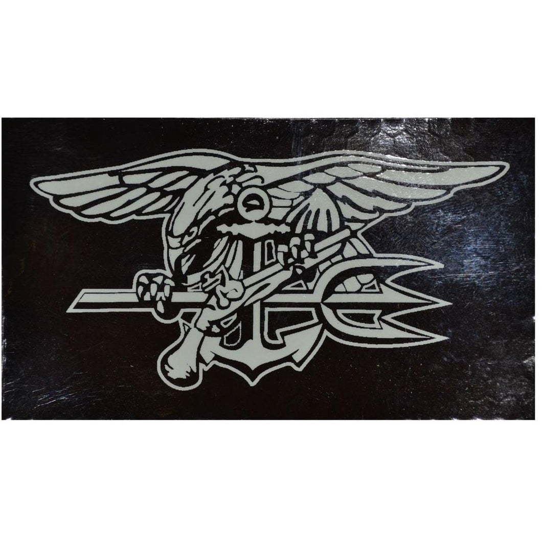 IR (Infrared) Navy Seal Trident (White Graphic) - 2x3.5 Patch