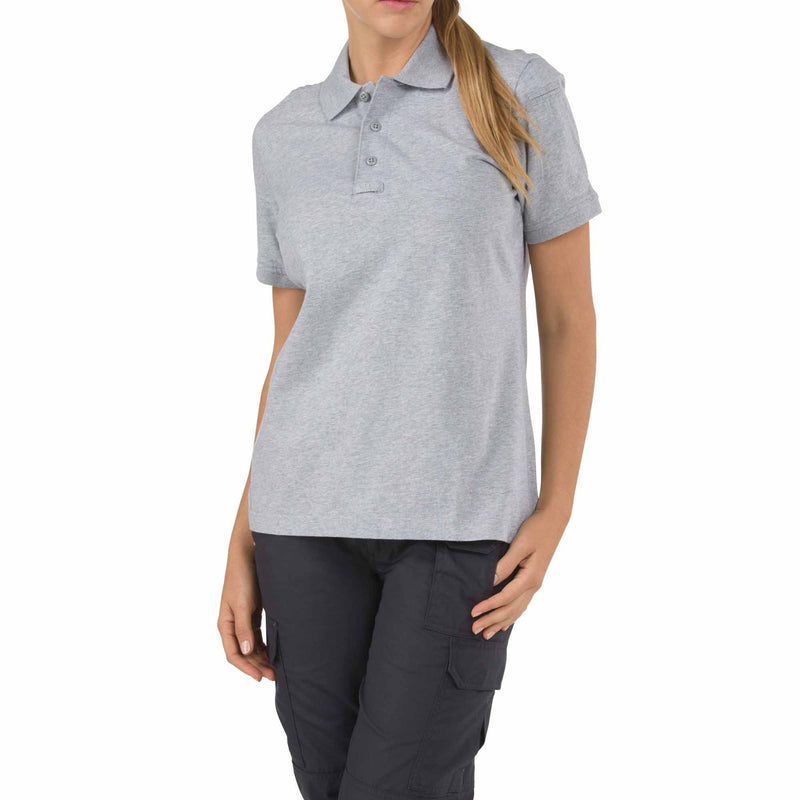 5.11 Tactical Apparel Heather Gray / Large 5.11 Tactical Womens Short Sleeve Tactical Polo