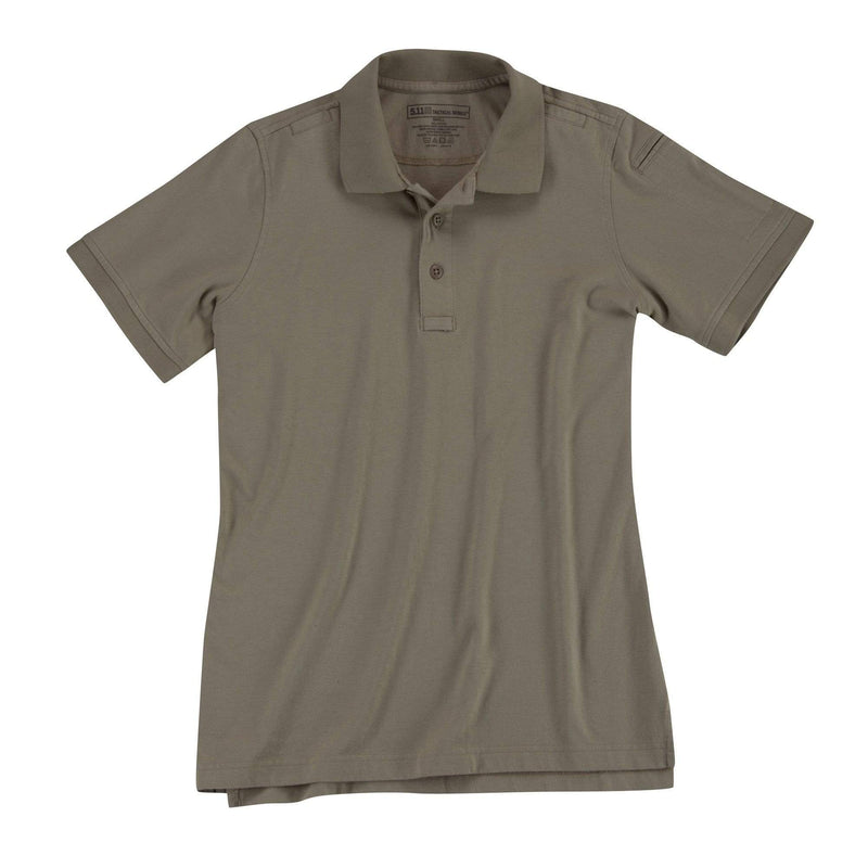5.11 Tactical Apparel Silver Tan / Large 5.11 Tactical Womens Short Sleeve Tactical Polo