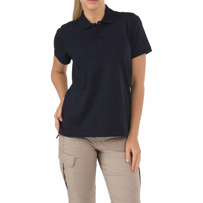 5.11 Tactical Apparel Dark Navy / Small 5.11 Tactical Womens Short Sleeve Tactical Polo
