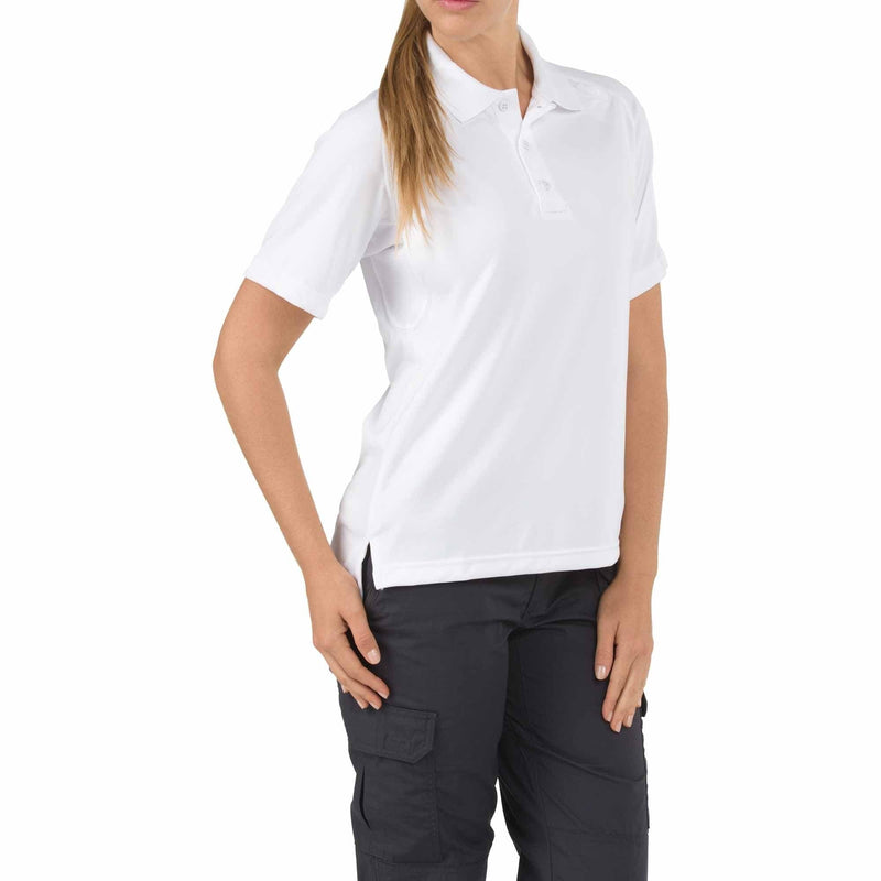 5.11 Tactical Apparel White / Medium 5.11 Tactical Womens Short Sleeve Tactical Polo