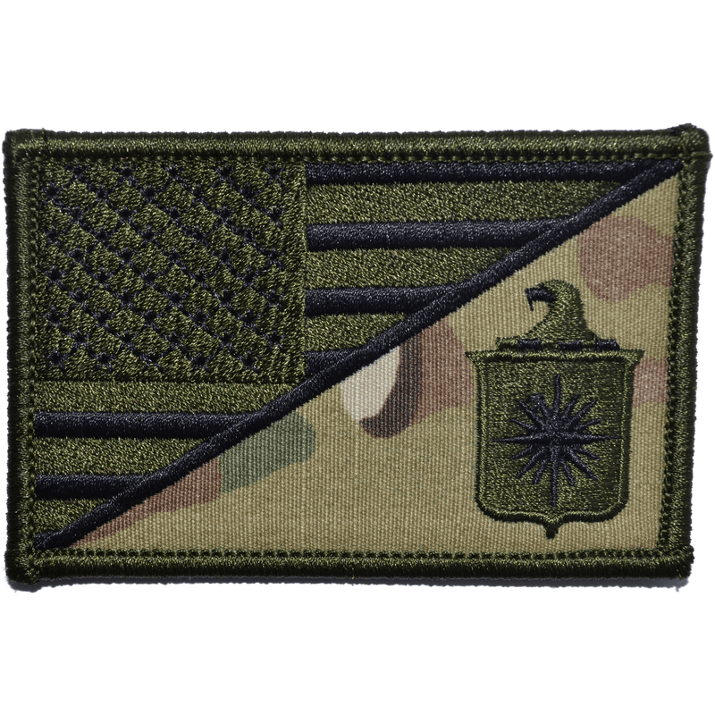 Tactical Gear Junkie Patches MultiCam CIA Central Intelligence Agency USA Flag - 2.25x3.5 Patch