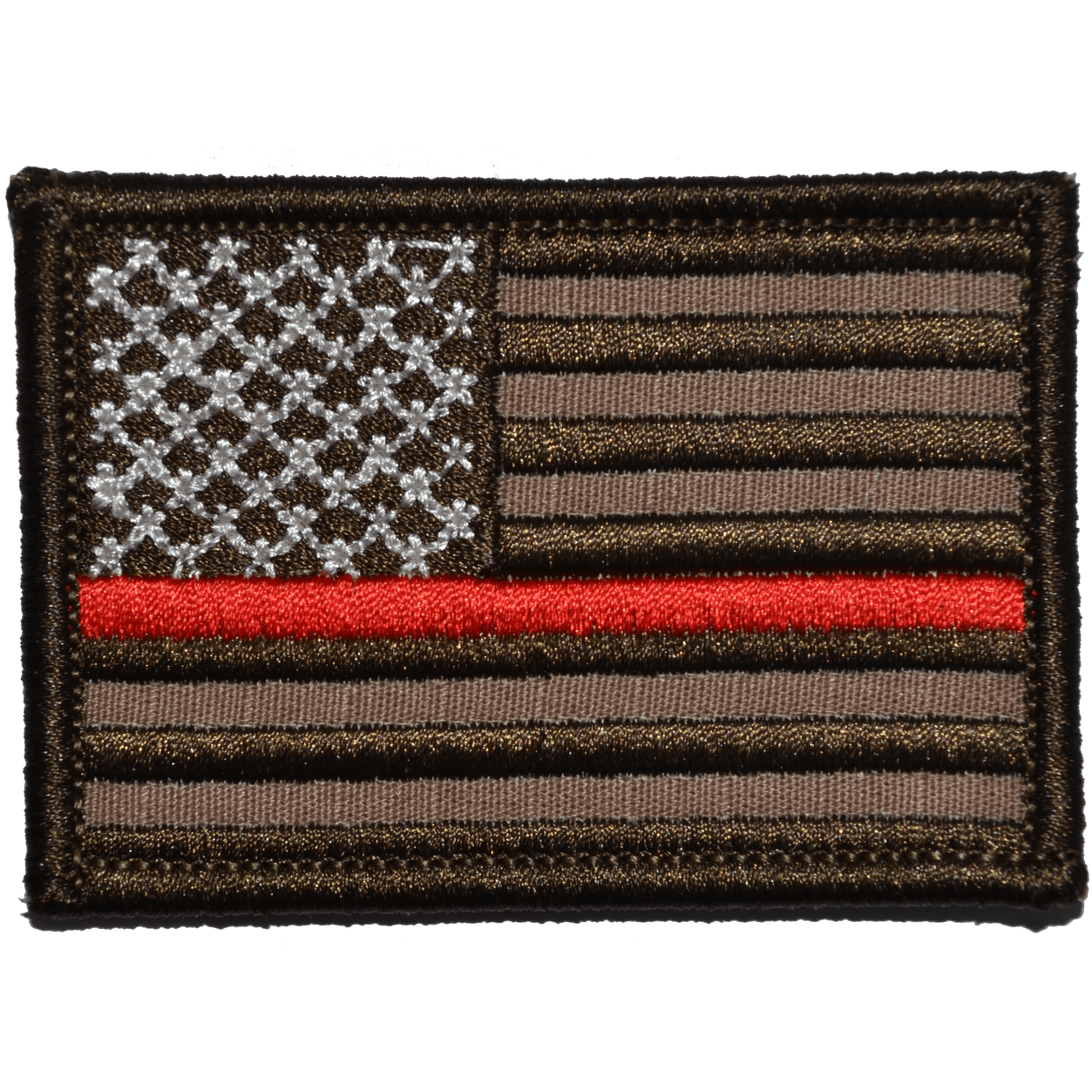 Thin Red Line Firefighter American Flag - 2x3 Patch