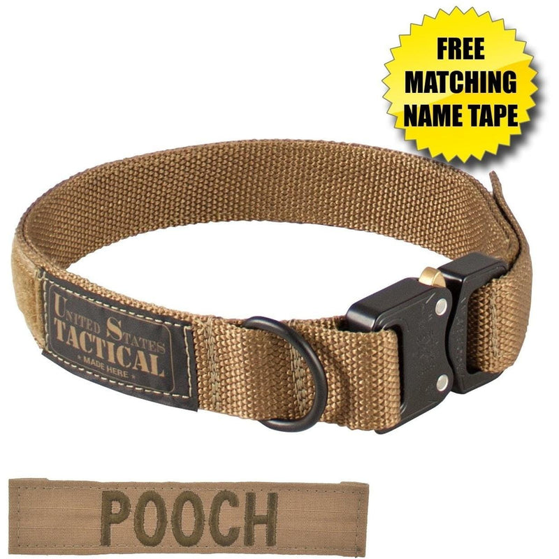 United States Tactical Tactical Gear United States Tactical Dog Collar with COBRA Buckle