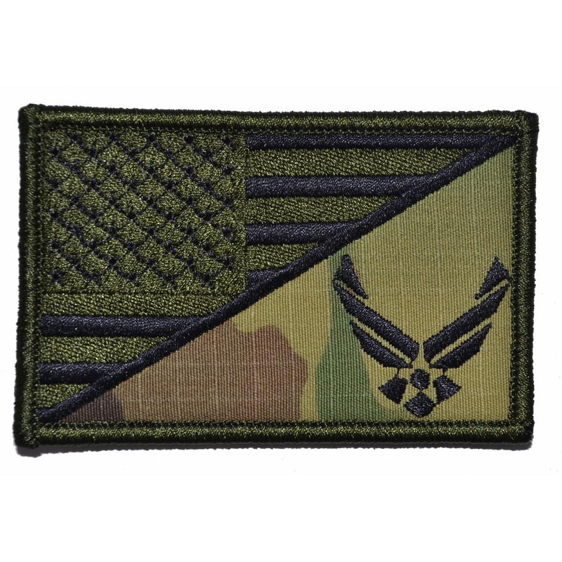 Tactical Gear Junkie Patches Multicam U.S. Air Force Emblem USA Flag - 2.25x3.5 Patch