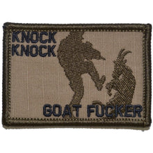 Knock Knock Goat Fucker - 2x3 Patch