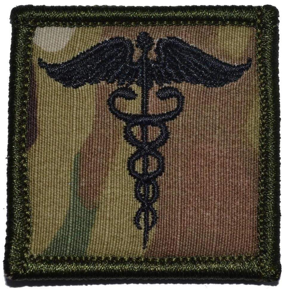 Tactical Gear Junkie Patches MultiCam Caduceus Staff of Life - 2x2 Patch