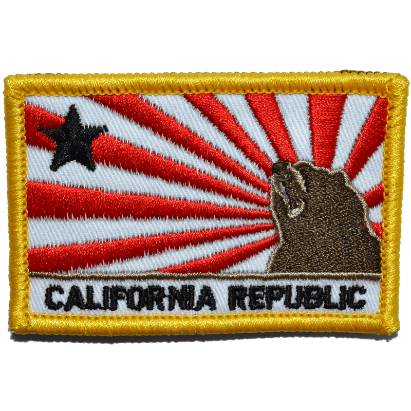 Tactical Gear Junkie Patches Full Color California Republic Sun Rays Flag - 2x3 Patch