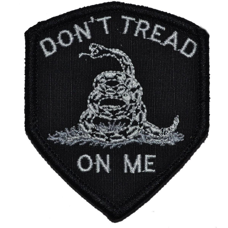 Tactical Gear Junkie Patches Black Don't Tread On Me Gadsden Snake - 2.5x3 Shield Patch