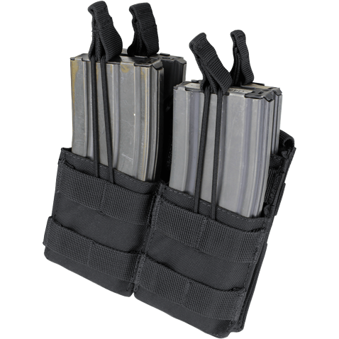 Condor Tactical Gear Black Condor Double Stacker M4 Mag Pouch