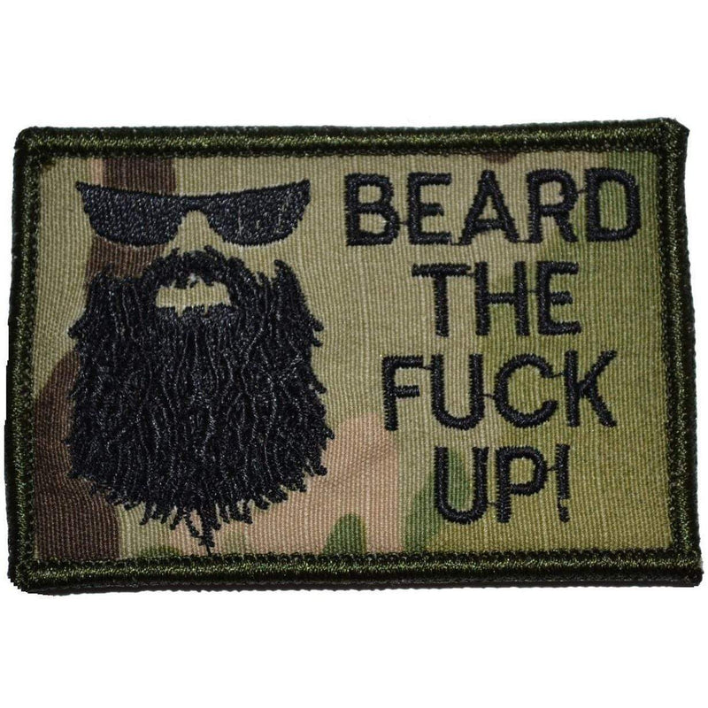 Tactical Gear Junkie Patches MultiCam Beard the Fuck Up - 2x3 Patch