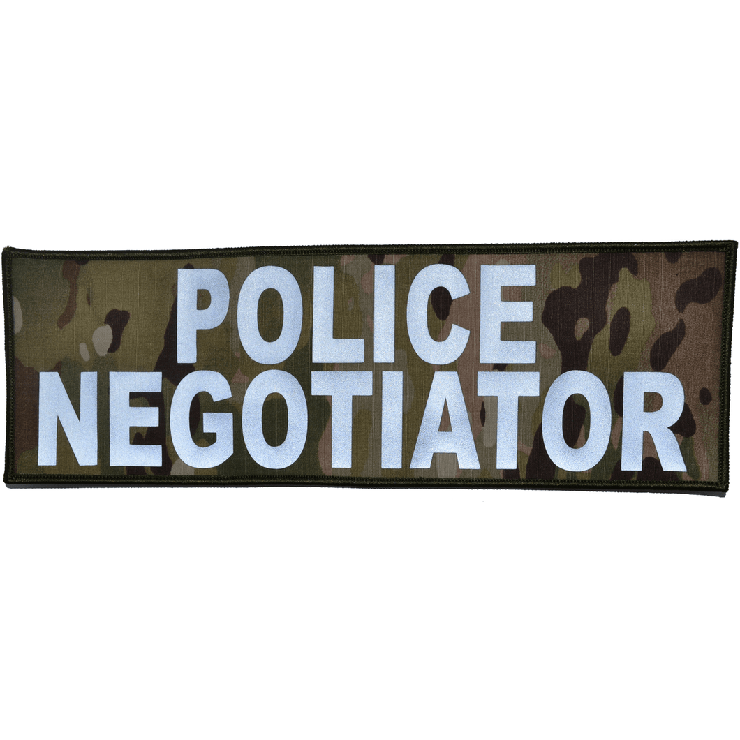 Reflective Police Negotiator Patch - 4inch x 12inch