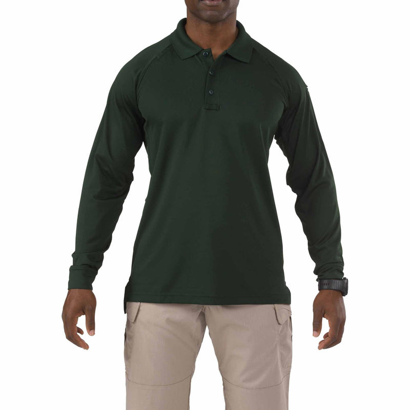 5.11 Tactical Apparel LE Green / Regular Small 5.11 Tactical Performance Long Sleeve Polo
