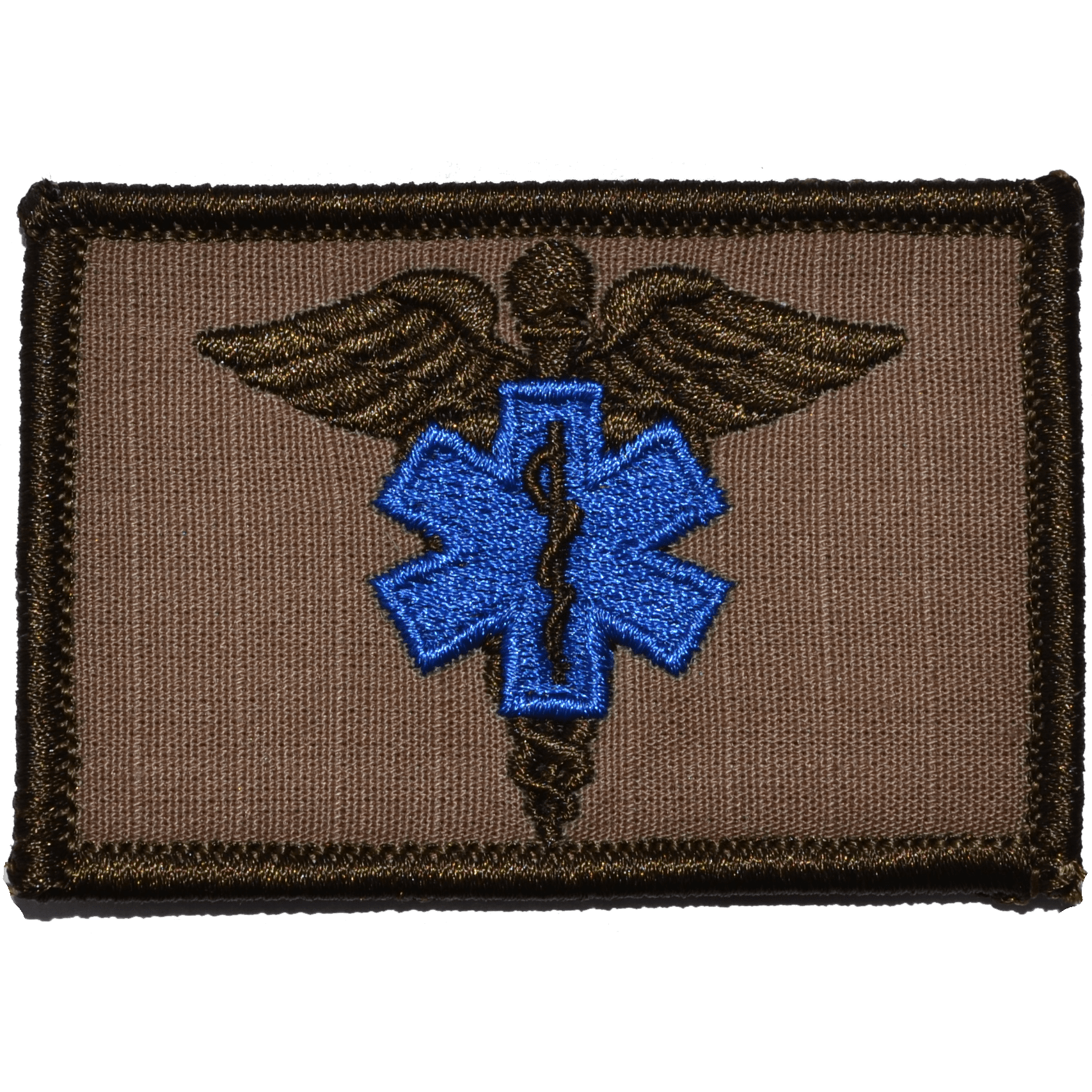 Tactical Gear Junkie Patches Coyote Brown Caduceus Star of Life EMT - 2x3 Patch
